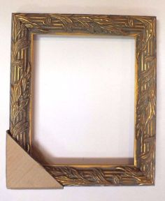 antique gold leaf ornate picture frame for 8 x 10 free shipping nice baroque