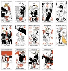 Tarot Deck Part 4/6: All the Rune cards of the Minor Arcana portion of the Tarot Deck done by Cassandra Jean featuring characters from Cassandra Clare's books. ( TMI, TID, TDA, and TLH) WARNING: Spoilers in cards