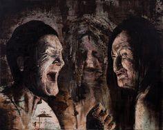 """Macbeth"" 2013 óleo sobre tela, 120 x 150 cm"