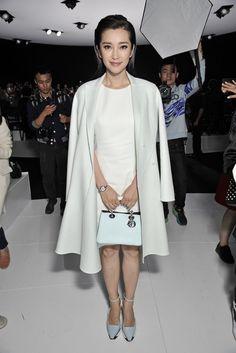 Chinese actress Ling Bingbing -Front Row at Dior Spring 2015 - Slideshow - Runway, Fashion Week, Fashion Shows, Reviews and Fashion Images - WWD.com