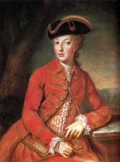 1771 Young Marie Antoinette wearing a riding dress by Joseph Krantzinger (Schloß Schönbrunn - Wien Austria)   Grand Ladies   gogm