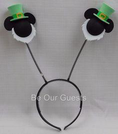 Disney Parks Saint Patrick's Day Leprechaun Antenna Topper Headband New