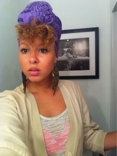I'm gonna do this look one day with my hair - and I'll post the picture on my 'I did it board'! Wrapped Up #naturalhair