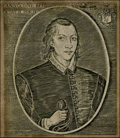 "John Donne, age 19. Isn't he adorable? (upper right corner: ""Antes muerto que mudado."")"