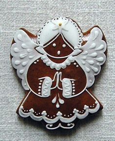 Angel Cookies, Xmas Cookies, Iced Cookies, Fun Cookies, Sugar Cookies, Gingerbread House Parties, Christmas Gingerbread Men, Gingerbread Cookies, Christening Cookies