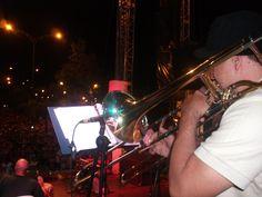 Andrés Andrade, en el trmbón 1.