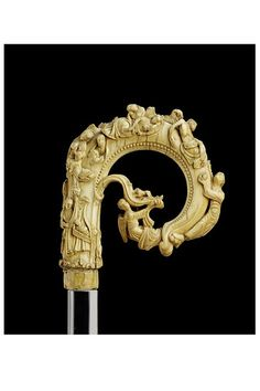St Nicholas Crozier  Winchester, England (probably)  1150 - 1170  Carved ivory