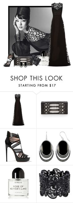 """Black works"" by whiteflower7 ❤ liked on Polyvore featuring Elie Saab, Nancy Gonzalez, Alaïa and Byredo"