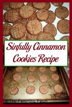 Recipe for cinnamon cookies using butter, milk, eggs, brown sugar, white sugar. #cinnamoncookies