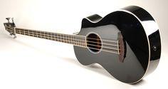 "Breedlove Atlas Series Black Bass ""B3"" Four String Acoustic Bass Guitar"
