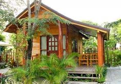 Rustic tree house inspiration ideas for 2019 Bamboo House Design, Tropical House Design, Small House Design, Cottage Design, Tropical Houses, Hut House, Tiny House Cabin, Style At Home, Small House Decorating
