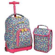 J World 16 Lollipop Rolling Backpack with Lunch Kit -