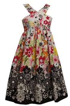 Size-8 BNJ-3408M BLACK WHITE MULTICOLOR 'Positive-Negative' DUAL FRONT-BACK FLORAL PRINT Spring Summer Party Dress M43408 Bonnie Jean TWEEN GIRLSFrom #Bonnie Jean List Price: $45.00Price: $33.90 Availability: Usually ships in 1-2 business daysShips From #and sold by iPovePou Boutique