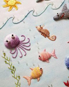 Embroidery closeup #embroidery #stitching #stumpwork #needlework #fiberart