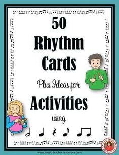 music lessons  |  rhythm games  |  Music education  | 50 Rhythm Cards plus ideas for Activities.  ♫ CLICK through to preview or save for later!! ♫  #musiceducation  #musiced
