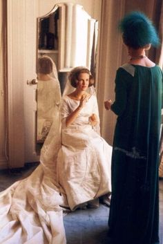 Princess Anne Marie of Denmark and mother, Queen Ingrid, just before the wedding. 1964