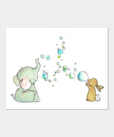 Take a look at this Bubble Party Print by trafalgar's square on #zulily today!