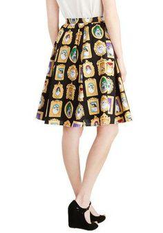 Pretty as a Purr-trait Skirt