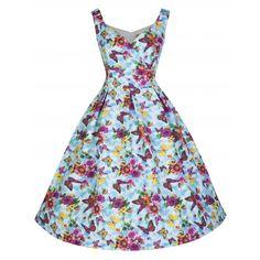 Fay Summer Flower Swing Dress| Vintage Inspired Fashion - Lindy Bop