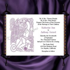 Dragon Invitation & RSVP    Celtic Dragon by KateTaylorDesigns, $1.65