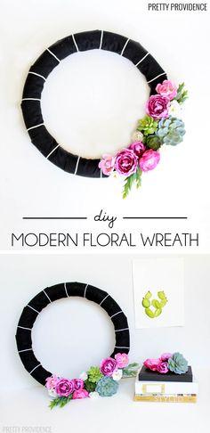DIY Modern Floral Wr