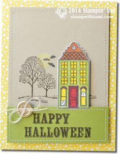 "Love me some fun Halloween projects! Today's card is so flippin' cute, from Veronica. The moon was created with the ""What's Your Type"" alphabet...the dot was a perfect size. ""Happy Halloween"" comes..."