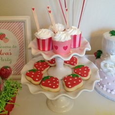 Treats at a Strawberry Party #strawberry #party