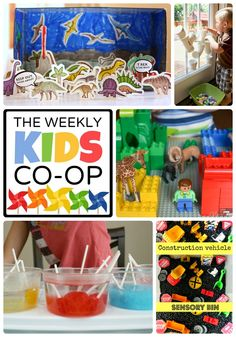 Hundreds of Kids Activities at The Weekly Kids Co-Op Link Party #kids #play #kbn