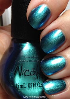 Nicole by OPI Empowered Emerald...WOW, absolutely gorgeous color - MUST have!!