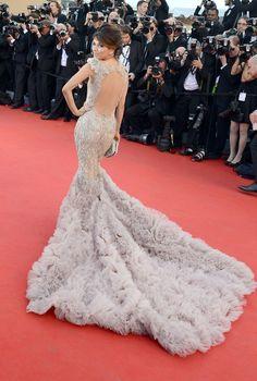 2012 beim Filmfest in Cannes: Eva Longoria in Marchesa