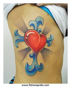 0235cb070 38 Best Two Hearts Cross Tattoo images in 2017   Cross tattoo ...