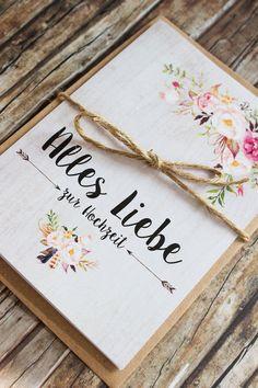 Glückwunschkarte zur Hochzeit mit Vintage Blumenmotiv / vintage wedding card with flowers made by Kartenliebe Hamburg via DaWanda.com