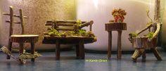 Fairy garden furniture set - #twig #miniatures