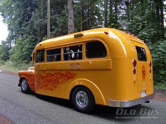 images of school buss campers | Recently Sold – 1955 GMC Hot Rod School Bus Rv