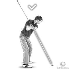 Your backswing is on plane if the butt end of the club points directly at the ball at the halfway back position of the backswing Golf Backswing, Golf Tips, Plane, Positivity, Club, Airplane, Aircraft, Planes, Airplanes