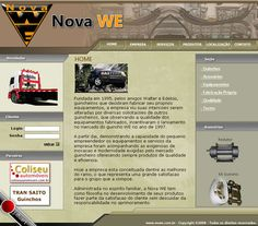 Site em HTML, CSS e Flash da Nova WE - 2006