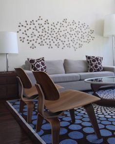 Modern Modular Wall Art in Solid Walnut. $75.00, via Etsy.