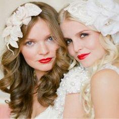 Glamorous chic bridal headpieces by Jannie Baltzer