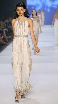 Interview · Gwendolynne Burkin | One of Gwendolynne's current designs on the runway.