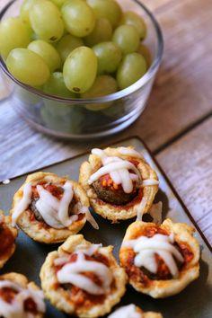 Mini Meatball Muffins & Bacon Wrapped Mozzarella Sticks AD