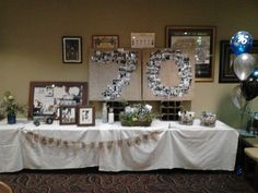 Image Result For Table Decorations 70th Birthday Party Gifts