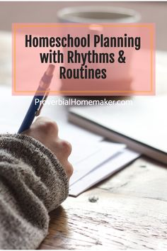 Frustrated with homeschool planning and need something more flexible? Come check out why this mom doesn't do ANY detailed lesson planning and how she uses rhythms and routines for homeschool planning! #homeschool Sms Language, Christian Homeschool, Lesson Planning, Homemaking, Lesson Plans, Routine, Parenting, Organization, How To Plan