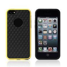 Black Back Contrast Color Elegant TPU Durable Case for iphone5C