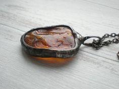 Statement pendant BALTIC AMBER Amber pendant stone by AWillam
