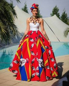 DKK African fashion Ankara kitenge African women dresses African prints A African Dresses For Women, African Print Dresses, African Attire, African Wear, African Fashion Dresses, African Women, African Prints, African Style, Ankara Fashion