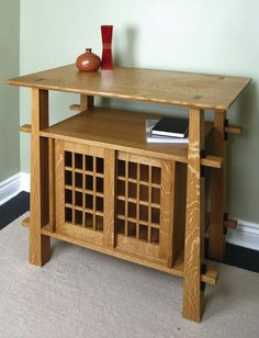 <strong>Heirloom Project:</strong> This cabinet was inspired by the many Torii gates throughout Japan. Its simple, clean lines mean it will look great in almost any setting.<br />