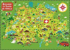 Citroën, Switzerland Illustrated Map Adventures by Nate Padavick (idrawmaps.com)