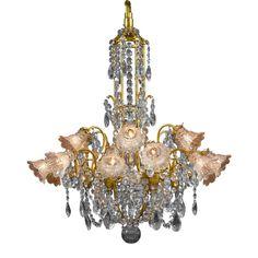 Eighteen-Light Baccarat Crystal Chandelier For Sale at Chandelier For Sale, Art Deco Chandelier, Bronze Chandelier, Chandelier Pendant Lights, Modern Chandelier, Bubble Chandelier, Crystal Chandeliers, Modern Lighting, Antique Light Fixtures