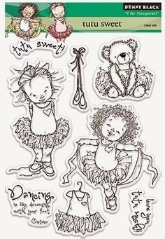"""Hello friends! It's time for another challenge here at Mo's!! And, because we'd like to change things up a bit, here's what you'll be """"playing"""" for...A set of Mo Manning transparent stamps called """"TuTu Sweet""""(a $15.50 value)And we promise to get to our new challenge in just a moment!But first, we ha Kids Stamps, Mo Manning, Penny Black Stamps, Whimsy Stamps, Art Impressions, Paper Stars, Colouring Pages, Digital Stamps, Clear Stamps"""