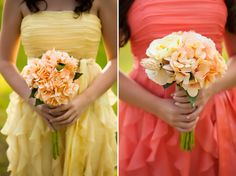 Rustic Peach and Yellow DIY Wedding
